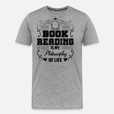 Hockey Is My Life Reading Is My Philosophy Of Life Shirt - Men's Premium T-Shirt