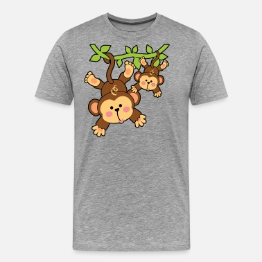 Cartoon Monkey Monkey Shirt - Men's Premium T-Shirt