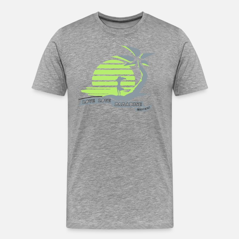 Love T-Shirts - Aphmau Love~Love Paradise Shirt - Men's Premium T-Shirt heather gray