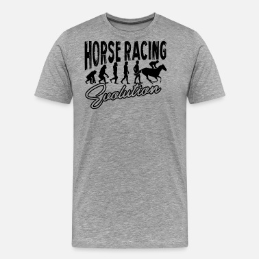 Evolution Horse Horse Racing Evolution Shirt - Men's Premium T-Shirt