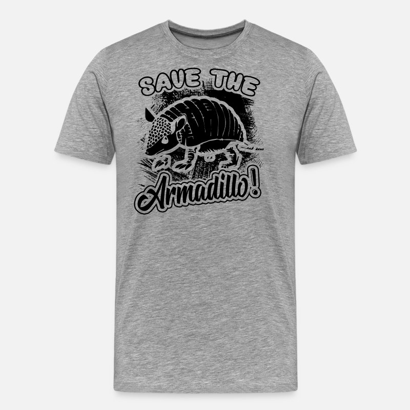 Save The Armadillo T-Shirts - Save The Armadillo Shirt - Men's Premium T-Shirt heather gray