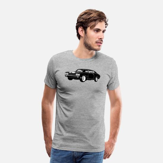 Chevelle T-Shirts - 1970 Chevrolet Chevelle SS 454 - Men's Premium T-Shirt heather gray