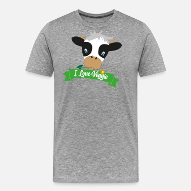 Cute Cow i love veggie - Men's Premium T-Shirt