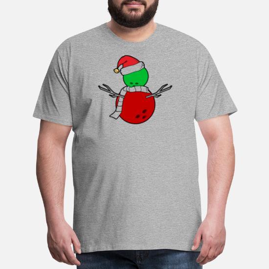 840c30c6 Christmas T-Shirts - Funny Christmas Bowling Shirt - Men's Premium T-Shirt  heather