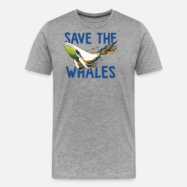 Save SAVE THE WHALES - Men's Premium T-Shirt