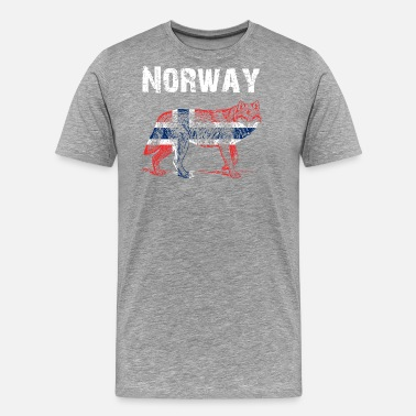 Norge Nation-Design Norway Wolf cBlQa - Men's Premium T-Shirt