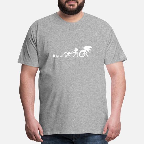 Evolution Alien tshirt Men's Premium T-Shirt   Spreadshirt