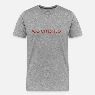 Traveller Sacramento brown lettering gift gift idea - Men's Premium T-Shirt