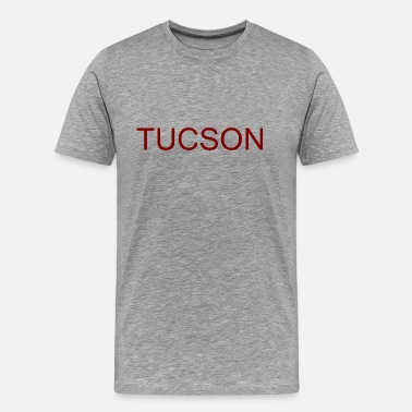 State Of Arizona Tucson brown lettering gift gift idea - Men's Premium T-Shirt