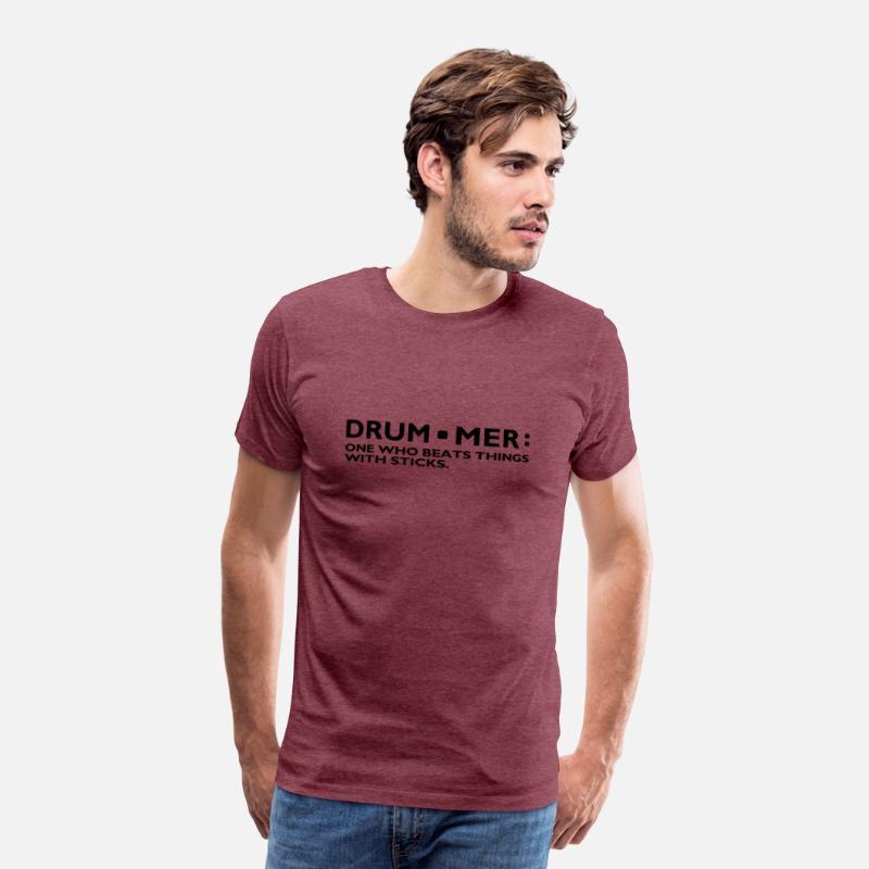 Definition of a Drummer Music Drum Sticks Rock Ban Men's Premium T-Shirt -  heather burgundy