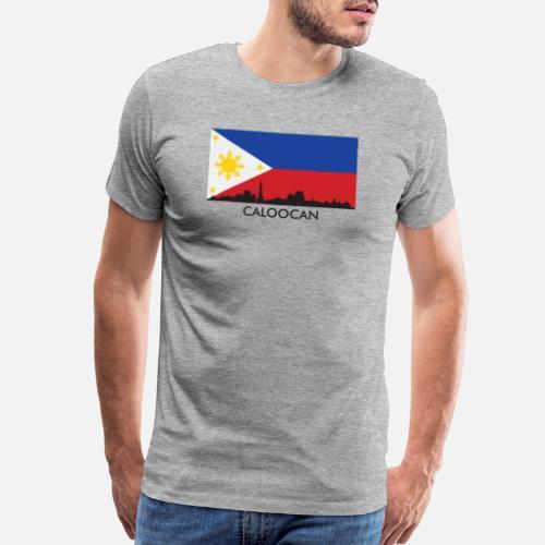 07ecd49606f Caloocan Philippines Skyline Filipino Flag Men s Premium T-Shirt ...