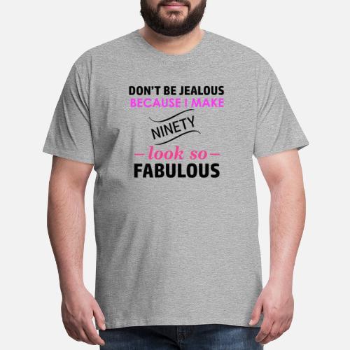 Mens Premium T Shirt90th Birthday Design