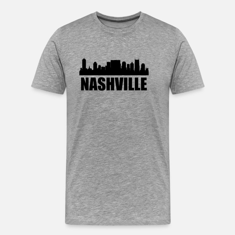 Silhouette T-Shirts - Nashville TN Skyline - Men's Premium T-Shirt heather gray