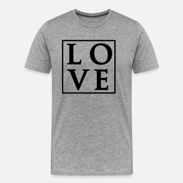 Love-square-design Love - Fancy Square Design (Black Letters) - Men's Premium T-Shirt