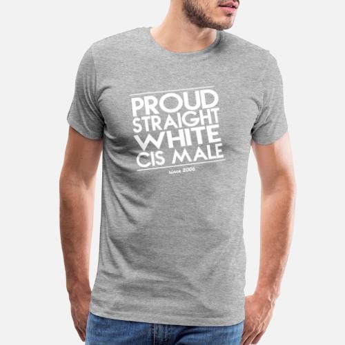a22bb3bb642 Proud Droit Blanc Cis Homme - T-shirt premium Homme. Devant