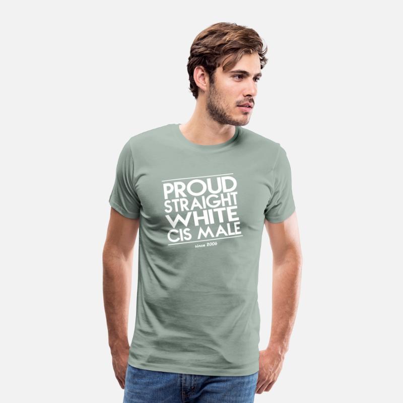 b42b2c7418e Proud Droit Blanc Cis Homme T-shirt premium Homme