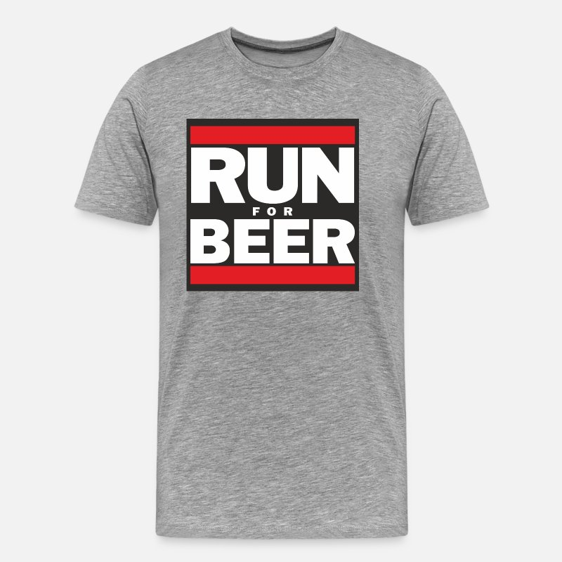 Party T-Shirts - Will Run For Beer - Men's Premium T-Shirt heather gray