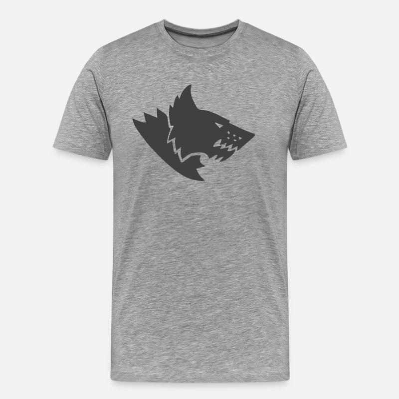 Game T-Shirts - 40,000 Space Wolves - Men's Premium T-Shirt heather gray