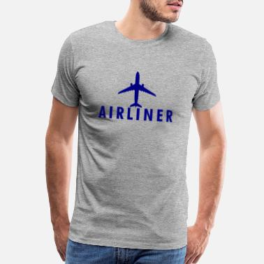 Airline Aviation Airliner Aircraft Wings Aviation Gift Idea - Men's Premium T-Shirt