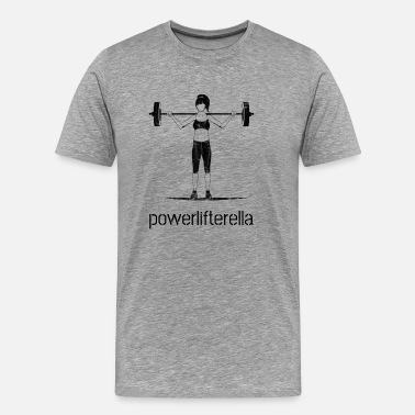 Bodybuilding Funny Powerlifting Women Girl Lifting Squat Vintage Gym - Men's Premium T-Shirt