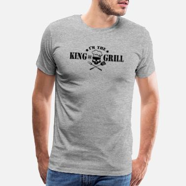 Grillzange King of the Grill - BBQ Grillmaster Meat Summer - Men's Premium T-Shirt