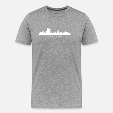 Madrid Spain Madrid Spain Skyline - Men's Premium T-Shirt