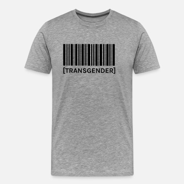 Proud-to-be-transgender Barcode Transgender - Men's Premium T-Shirt