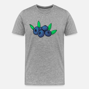 Blueberry Bilberry Whortleberry Blueberry - Men's Premium T-Shirt