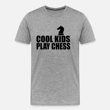 Chess For Kids cool kids play chess - Men's Premium T-Shirt