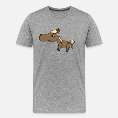 Blonde cute baby horse with a blond mane, nice gift idea - Men's Premium T-Shirt