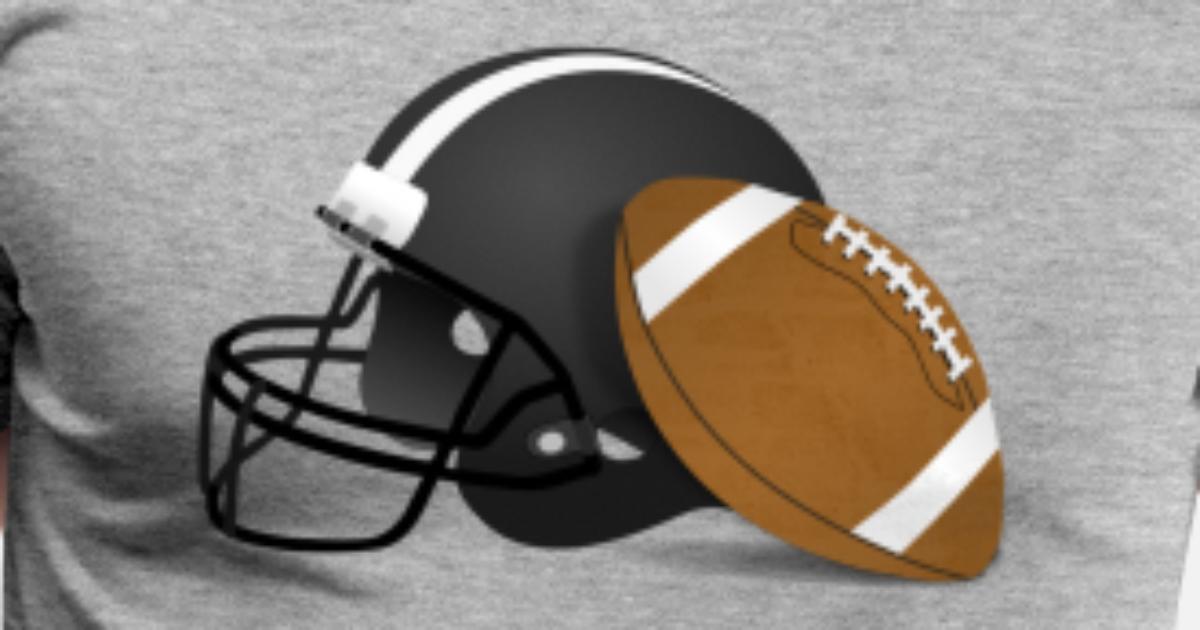 American Football Ball Amp Helmet Men S Premium T Shirt