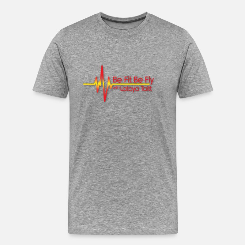 Fitness T-Shirts - Be Fit Be Fly - Men's Premium T-Shirt heather gray
