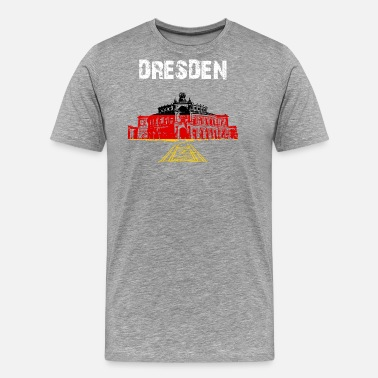 Dresden City-Design Dresden Semperoper NW6nb - Men's Premium T-Shirt