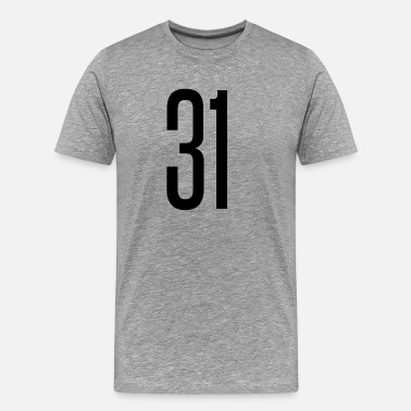31 Number Tall number 31 - Men's Premium T-Shirt