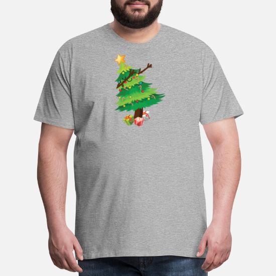 3939820c3 Christmas T-Shirts - Dabbing Christmas Tree Funny Christmas T-Shirt - Men's  Premium