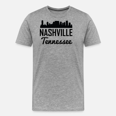 Nashville Tennessee Nashville Tennessee Skyline - Men's Premium T-Shirt