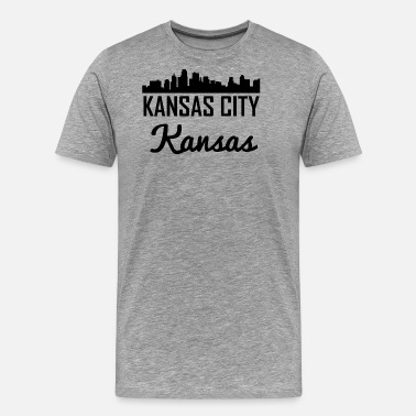 Funny Kansas City Kansas City Kansas Skyline - Men's Premium T-Shirt