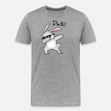 Easter Bunny Dab Dabbing Easter Bunny Shirt for Boys Girls Adults - Men's Premium T-Shirt