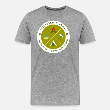 Wilderness Survival BadgeWork SVL - Men's Premium T-Shirt