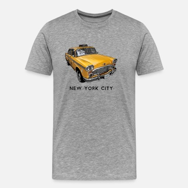 I Love The Bronx New York City Taxi Cab - Men's Premium T-Shirt