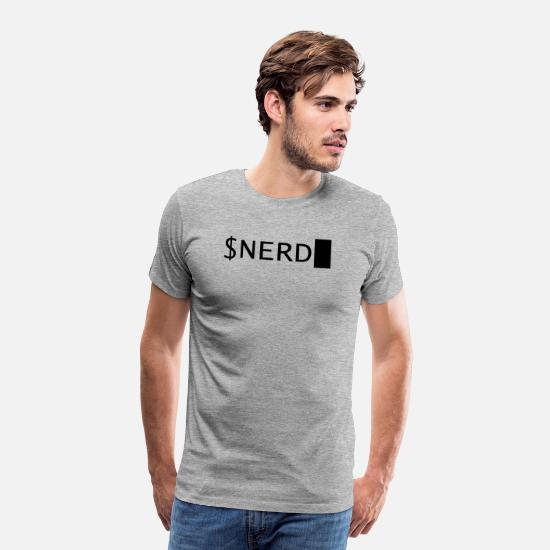 Programming T-Shirts - NERD - Men's Premium T-Shirt heather gray