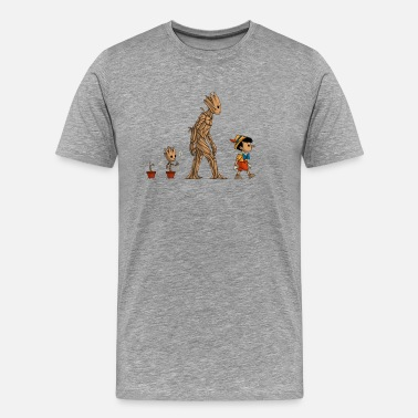 Baby Groot groot evolution - Men's Premium T-Shirt