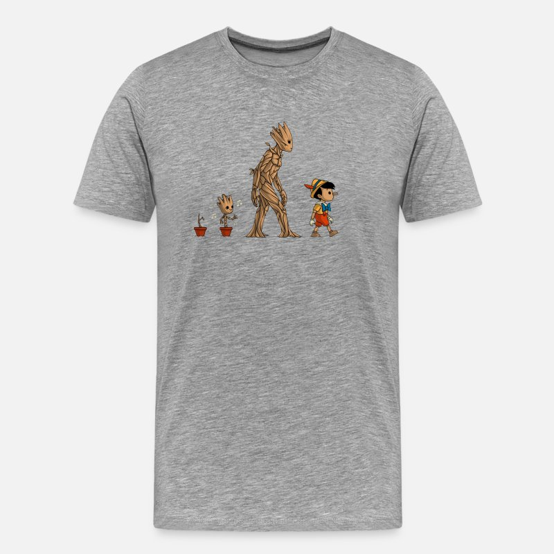 Groot T-Shirts - groot evolution - Men's Premium T-Shirt heather gray