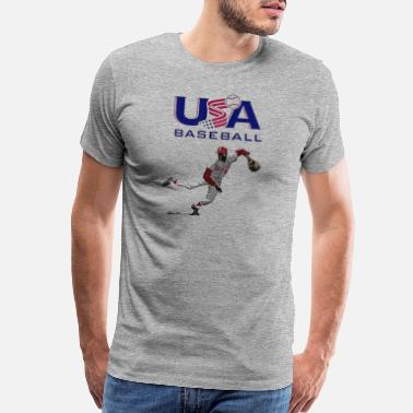 USA Baseball T Shirt - Men's Premium T-Shirt