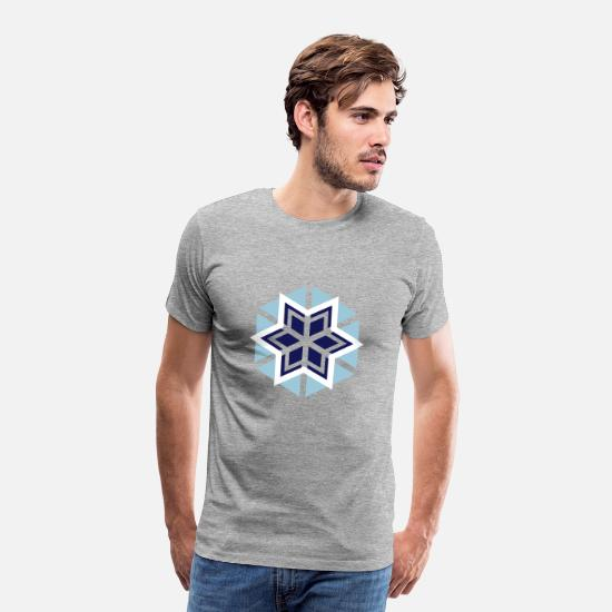 Snowflake T-Shirts - snowflake in a great design - Men's Premium T-Shirt heather gray
