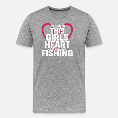 Fish Girl Fishing Shirts For Girls | Fishing Girls - Men's Premium T-Shirt