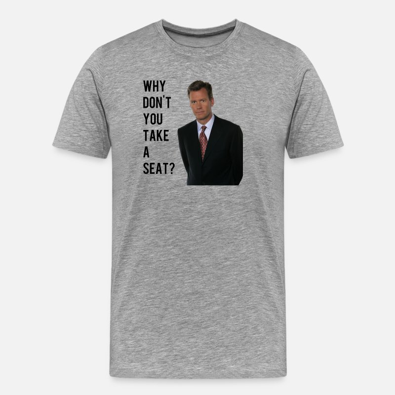 Seat T-Shirts - chris hansen - Men's Premium T-Shirt heather gray