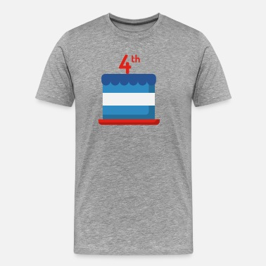 Independence Day Kids Independence Day Cake - Men's Premium T-Shirt