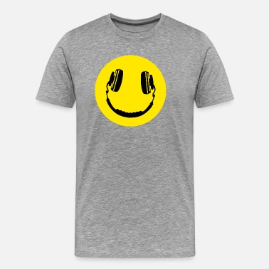 Smily Smily Music Headphone - Men's Premium T-Shirt