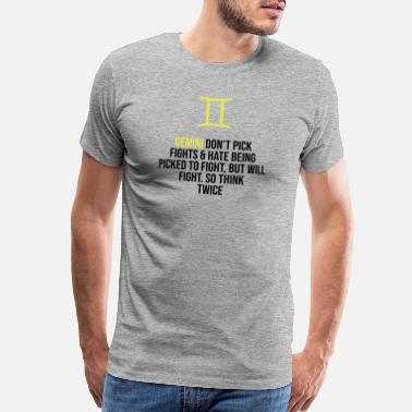 55d9cd2fc Zodiac. Gemini. Horoscope. Birthday Gift - Men's Premium T-Shirt